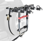 4x4 Spare Wheel 3 Bike Cycle Carrier Robust Rack Fits 4x4 with High Level Brake Lights Mottez A500P