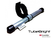 TubeBright High Visibility Safety Device Accessory. Made from 3M Scotchlite Reflective Material - Reflects from 360 Degrees. Reflector can be used on any tube up to 45mm Diameter inc. bike seat posts, cross-bars, forks, racks, trailers, pr ..