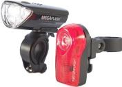 Sport DirectTM Bicycle Bike 0.5W MegaFlashTM LED Light Set 3 Diode LED Front Lamp & 3 Diode Rear CE Approved