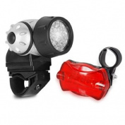 DIGIFLEX Bicycle 21 LED Front Lamp + Rear Bike Flash Safety Light