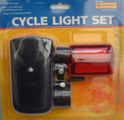 BIKE BICYCLE LAMP LIGHT SET FRONT & REAR LIGHTS
