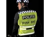 Polite High Vis Reflective Yellow Adjustable Cycle / Motorbike Tabard