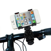 aLLreli Bicycle Bike Mount Holder Support Stand Cradle Handlebar Support 360 Degree Rotation for The HTC One, for Samsung Galaxy S4, Sony Xperia Z, iPhone 5 Google Nexus 4 for Samsung Galaxy S3, Note 2, Lumia 520 HTC One S, Lumia 920