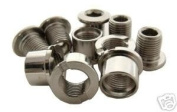Alloy Chainring bolts x5 (Single Ring) Silver, Free UK Postage