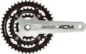 SR Suntour CW13 XCM-T414 Chainset 22/32/44T, Steel Rings, White/Black Alloy Cranks