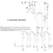 Rockshox Lower Leg Reba 09_,Tora Xc/Sl 10,Recon Silv/Gold 11 29Er Disc White 80-120Mm