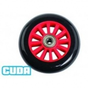 Barracuda Scooter Wheel Pair Plastic Red Black