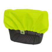 MadeForRain High Visibility Rain Cover for Front and Rear Bike Basket - CityTurtle Safety - Neon Yellow