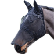 Full Face Mesh Fly Mask With Nose extension & Ears - Fleece Padded, Sizes