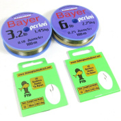 FTD - Kamasan Bayer Perlon 100m (1.5kg & 1.5kg) Fishing Line with Size (10 & 12) or (12 & 14) Barbless Hooks to Nylon Combo - Ideal for Float & Feeder Fishing!