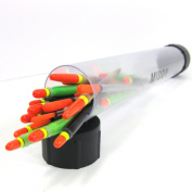 FTD - 20 Coarse Fishing Tackle Floats in a 31cm MIDDY Tube - Trotting, Wagglers, Chubbers