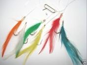 Mackerel Feathers 6 Hook - Coloured