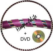 "Hooping4Life Silver Rainbow & Purple Medium (40"") weighted (625g) Exercise & Dance Hoop"