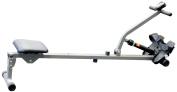 V-fit Fit-Start Single Hydraulic Rowing Machine - Silver/Grey/Black