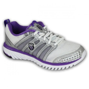 Ladies Trainers K Swiss 92553177 White Silver Size 4
