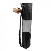 Portable Mesh Centre Black Yoga Pilates Mat Bag Carrier