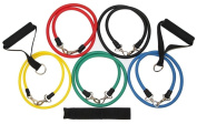 11 Piece Resistance Bands Set For Yoga ABS Pilates Fitness Exercise Workout