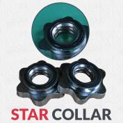 2.5cm Standard Weight Lifting Dumbbell Barbell Bar Spin-lock Collar locks Chrome