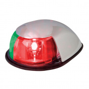 Perko LED Bi-Colour Bow Light - Red/Green - 12V - Chrome Plated Housing