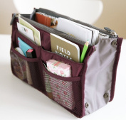 Salewine Handbag Insert Organiser Purse  Dual Storage Bag In Bag  Multi Pockets