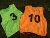 Numbered Training Bibs 1 - 10 Orange [SENIOR]