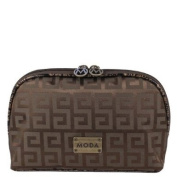 Moda Mika Ladies Womens Cosmetics Make Up Case Pouch Bag - Brown