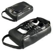 Masters Golf Leatherette Shoe Bag Black