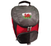 PATRIOT WALES CRESTED FLAME GOLF SHOE BAG BY ASBRI