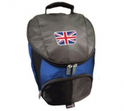 PATRIOT UNION JACK CRESTED FLAME GOLF SHOE BAG BY ASBRI