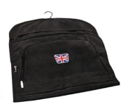 PATRIOT UNION JACK CRESTED LEATHERETTE SUIT CARRIER BY ASBRI GOLF