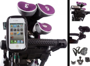 Golf Trolley U Bolt Handlebar Frame Mount with Water Resistant Case for Apple iPhone 4S
