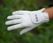 "OBG ""ALL WEATHER"" WHITE SYNTHETIC BOWLS GLOVE - MENS"