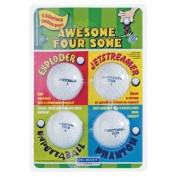 Awesome Foursome Novelty Joke Golf Balls