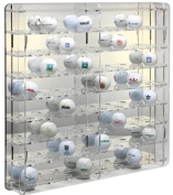SORA Acrylic Golf Ball Display Case with mirrored back-panel