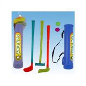 GOLF CLUBS BALLS CART BAG SET KIDS CHILDRENS TOYS GAMES PLAY SET KIT GIFT PACK