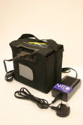 Powakaddy compatible 36 hole battery + 4 amp charger + carry bag