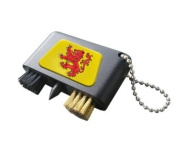 SCOTLAND RAMPANT LION CRESTED GOLF GROOVE CLEANER.