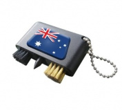 AUSTRALIA NATIONAL FLAG CRESTED GOLF GROOVE CLEANER.
