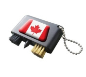 CANADA NATIONAL FLAG CRESTED GOLF GROOVE CLEANER.