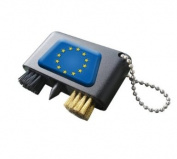 EUROPE NATIONAL FLAG CRESTED GOLF GROOVE CLEANER.