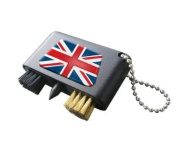 UNION JACK NATIONAL FLAG CRESTED GOLF GROOVE CLEANER.