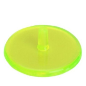 50Pcs Plastic Round Transparent Golf Ball Marker-----Neon Yellow