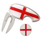 Golf Pitchmark Repairer - England Flag and Ball Marker