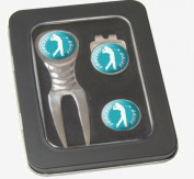 Asbri Golf Spirit Pitchfork & Cap Clip & Ballmarker in Tin Golf Gift Pack