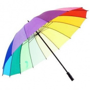 16 Rib Rainbow Golf Umbrella