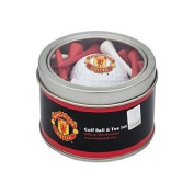 Official Manchester United FC Golf Ball And Tee Set - A great gift / present for men, boys, sons, husbands, dads, boyfriends for Christmas, Birthdays, Fathers Day, Valentines Day, Anniversaries or just as a treat for and avid football fan ..