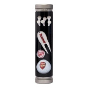 Official Arsenal FC Golf Accessories Gift Tube - A great gift / present for men, boys, sons, husbands, dads, boyfriends for Christmas, Birthdays, Fathers Day, Valentines Day, Anniversaries or just as a treat for and avid football fan