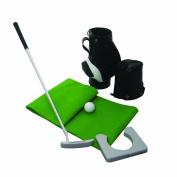 Longridge Mini Golf Bag Putting Set - Black/Green