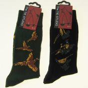 FTD - Countryside Sock Gift Set - Featuring 2 Pairs of Pheasant Design Socks One Green One Black