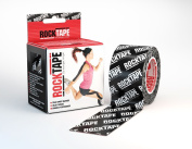RockTape 5.1cm Pattern Active Recovery Kinesiology Tape - Black Logo